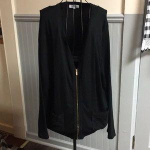 Calvin Klein Black Zip Up Long Sleeve Cardigan